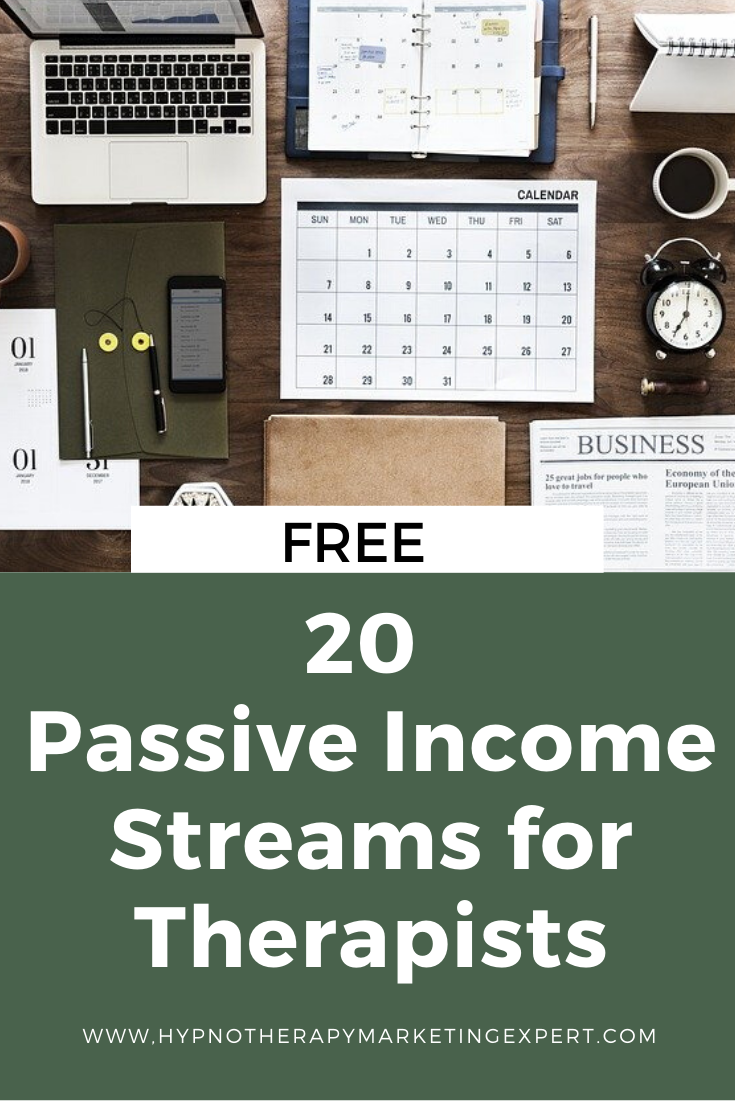 passive income hypnosis business hypnotherapy marketing